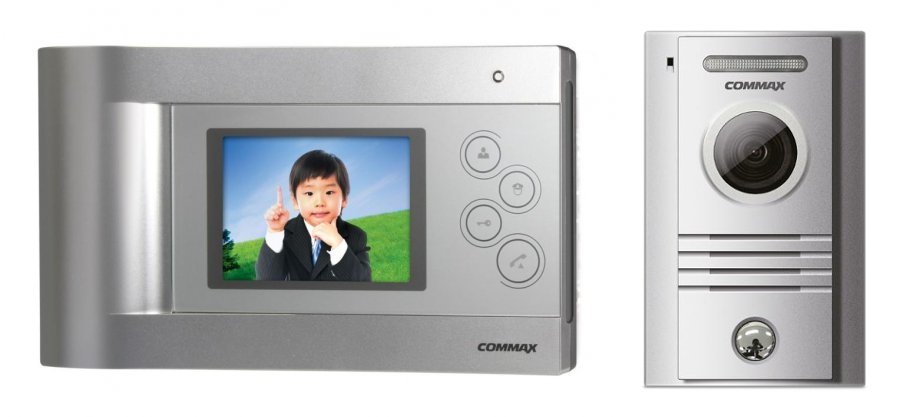 Set videointerfon color hands free Commax